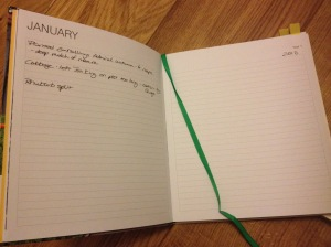 Plenty of space for notes in the Three Year Allotment Notebook